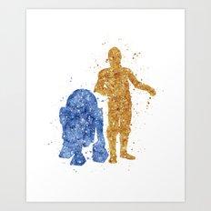 C3PO and R2D2 Star . Wars Art Print