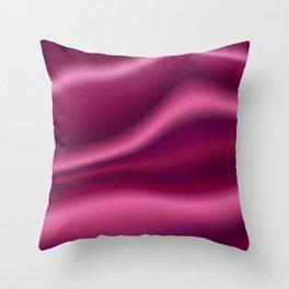 Luxury Burgundy Pink Silk Satin Throw Pillow
