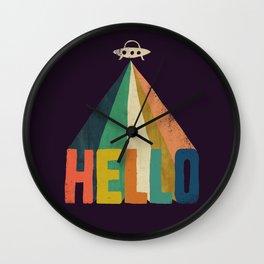 Hello I come in peace Wall Clock