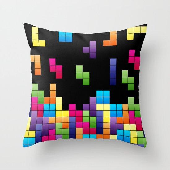 Tetris Troubles. Throw Pillow