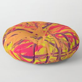 Orange Purple Green & Pink Abstract Floor Pillow