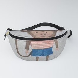 Monkey Jungle Friends Baby Animal Water Color Fanny Pack