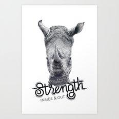 Rhino Strength Art Print
