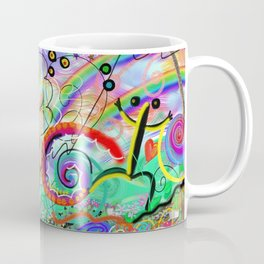 Taino Echoes - Puerto Rico Tribal Ethnic Art Coffee Mug