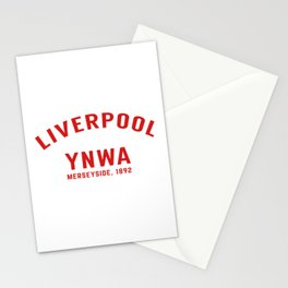 Liverpool tshirt | You'll Never Walk Alone | YNWA shirt | Premier league team Stationery Cards