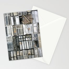 Les anciennes fenêtres  Stationery Cards