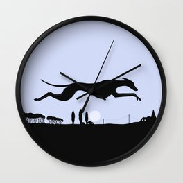 Whippet Dawn Wall Clock