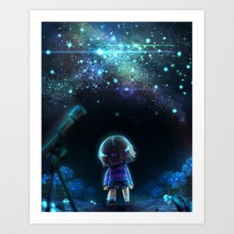 Starry (Night) Undertale Art Print