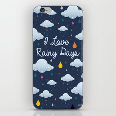 I love Rainy Days iPhone & iPod Skin