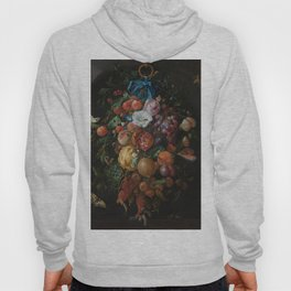 Festoon of fruits and flowers - Jan Davidsz. de Heem (1660 - 1670) Hoody