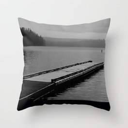 Suttle Lake in Gray and Black Throw Pillow