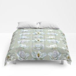 white Magnolia Design Comforters