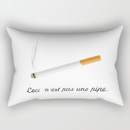 This Is Not A Pipe Rectangular Pillow