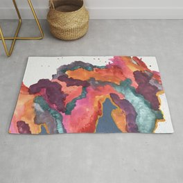 Carnival: a vibrant mixed media piece inspired by New Orleans Rug