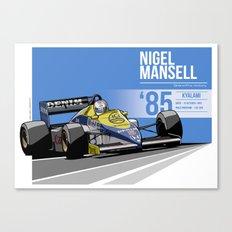 Nigel Mansell - 1985 Kyalami Canvas Print