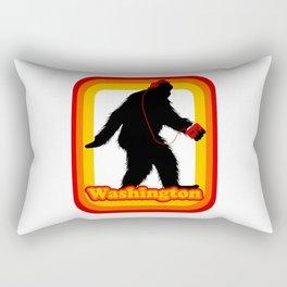 Retro Sasquatch Washington Rectangular Pillow