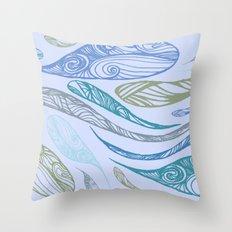 Pandora's Evils in BLUE Throw Pillow