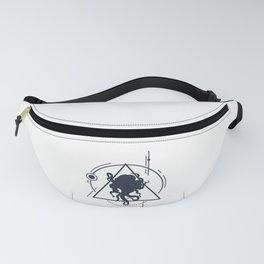 Inspirational Illustration With Octopus In Geometric Style Fanny Pack