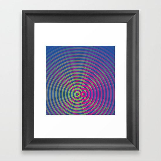 SoundWaves Lime/Magenta Framed Art Print
