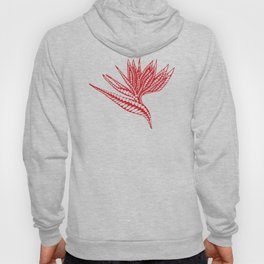 Red Polynesian Geometric Floral Chic Tribal Tattoo Hoody