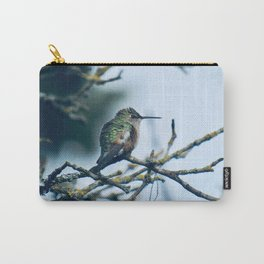 Ruffled Hummingbird Carry-All Pouch