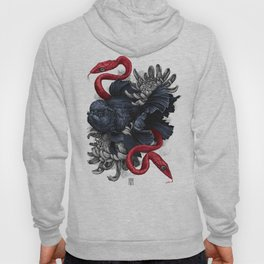 Gold fish with snakes Graphic Art Print. Digital watercolor style illustration Hoody