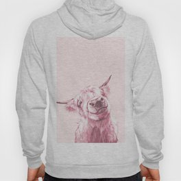 Highland Cow in Pink Hoody
