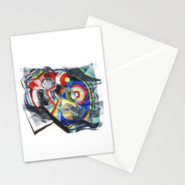 A Delaunay crumpled. Stationery Cards