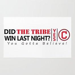 Did the tribe win last night? Rug