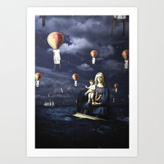 Madonna with Child (on the high sea) Art Print