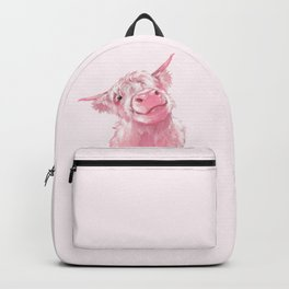 Highland Cow Pink Backpack