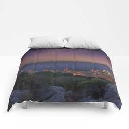 Sky sunset Comforters