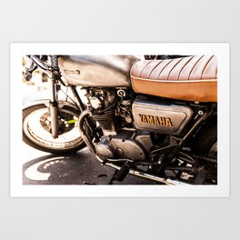 Old Yamaha Motorcycle Art Print
