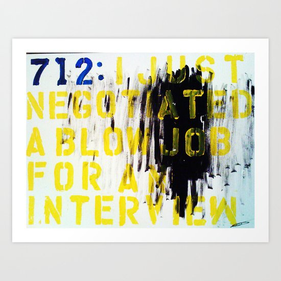 Texting 712 : Art Print