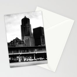 Leaving Seattle black and white Stationery Cards