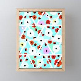 Poppies field- triangles Framed Mini Art Print
