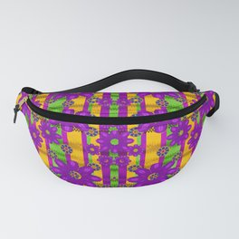 fantasy flower wreaths and bohemic floral in rainbows ornate Fanny Pack