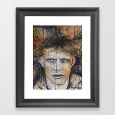 Marble Man Framed Art Print