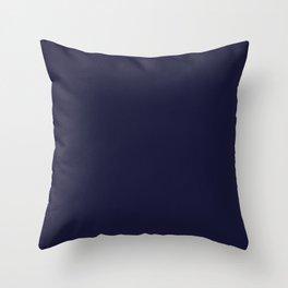 Rich Blue Solid Color Plain Throw Pillow