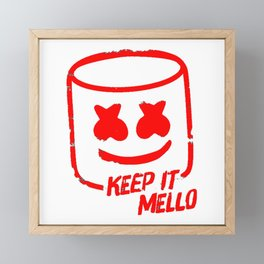 Marshmello - Keep It Mello Red Framed Mini Art Print