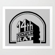FOURTEENTH CENTURY-RAT Art Print