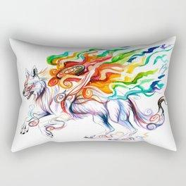 Okami Wolf Rectangular Pillow