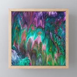 Colorful wild enigma flowing colors Framed Mini Art Print