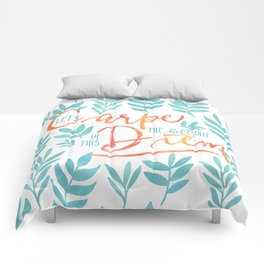Let's Carpe The Hell Out Of This Diem - Watercolor Comforters