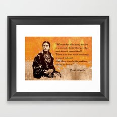 FRIDA KAHLO - the mistress of ARTs - quote Framed Art Print