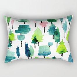 Watercolor forest Rectangular Pillow