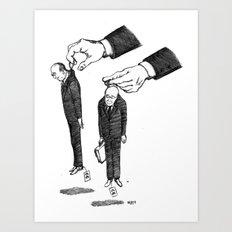 Hommes En Noir Par Lot De Deux Art Print
