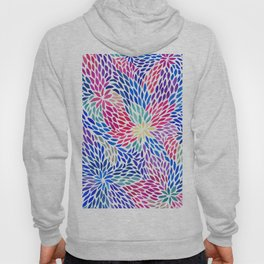 Flowing Leaves Purple & Blue Pattern Hoody