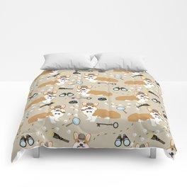 corgi sherlock holmes detective corgis Comforters