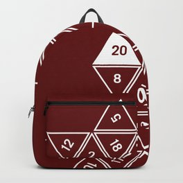 Red Unrolled D20 Backpack